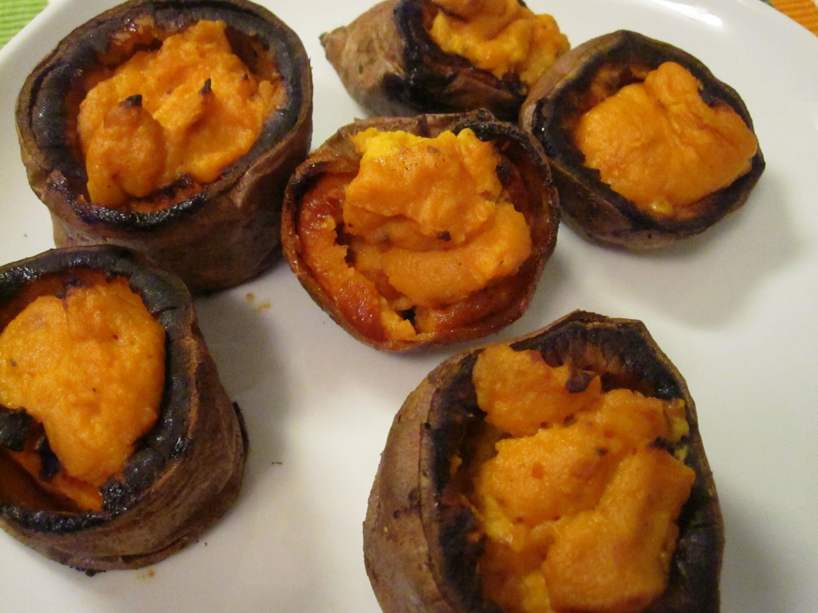 ... : Twice-Baked Sweet Potato Cups with Sour Cream, Chipotle, and Lime