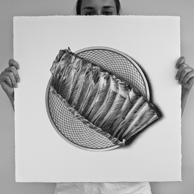 31-Ribs-C-J-Hendry-Hyper-Realistic-Drawings-of-Food-www-designstack-co