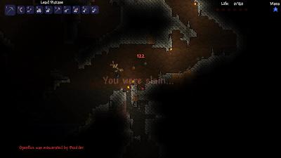Смерть при загадочных обстоятельствах в игре Terraria
