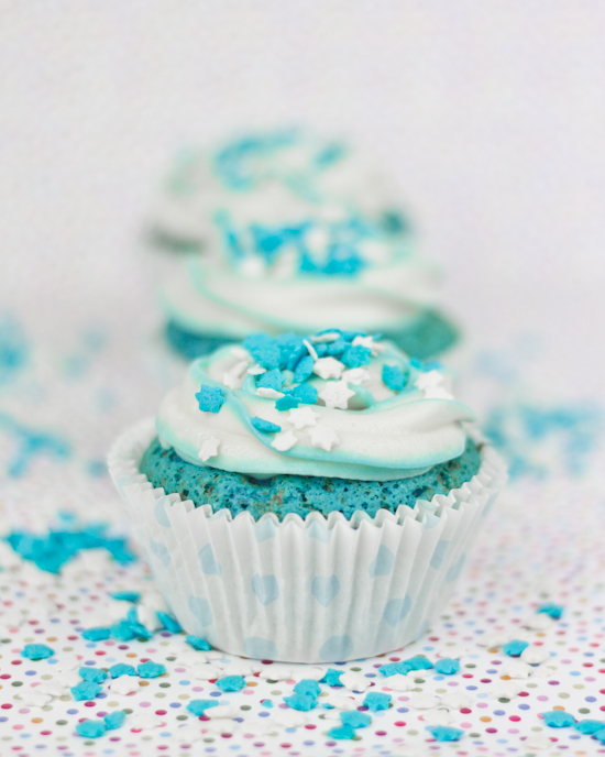 Objetivo Cupcake Perfecto Blue Velvet Cupcakes Para El Dia