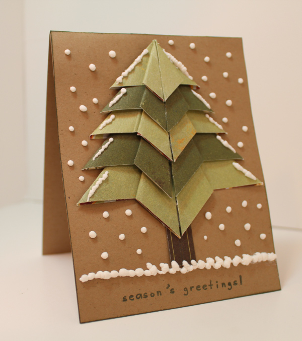 3d Origami Christmas Tree Today I Want To Share 3d: Four Wise Guys: Origami Tree Card And Tutorial