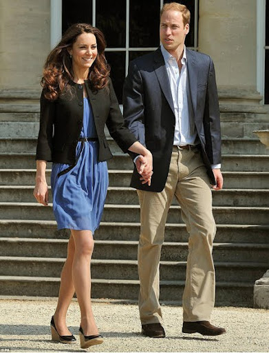 Уилям и Кейт след сватбата