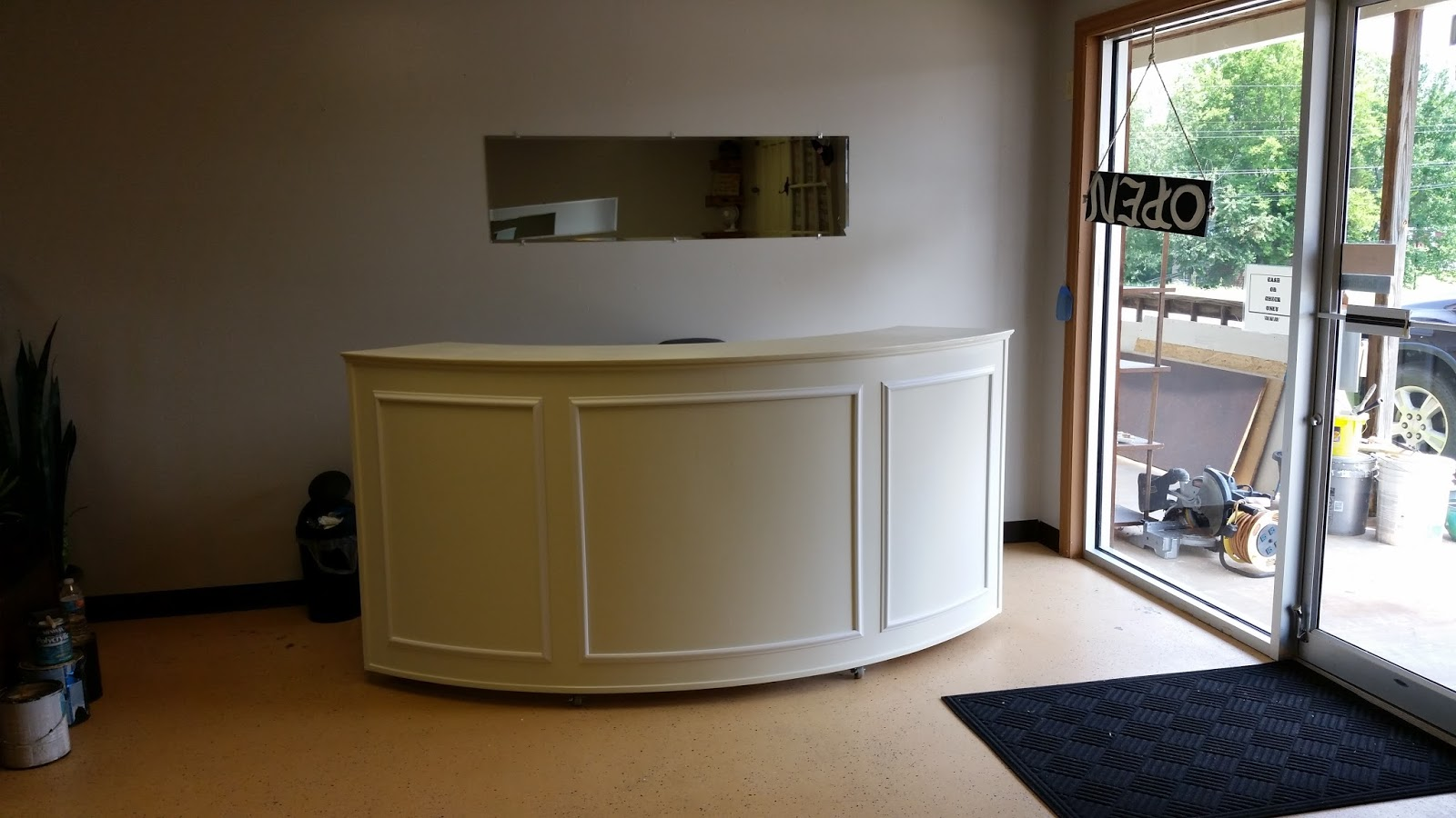 Handyman how 2 building a round reception desk round reception desk solutioingenieria Gallery