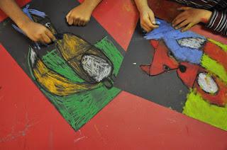 Cute Fox Kindergarten Art Project Work in Progress