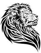 Motif Tato Singa Hitam Putih 3