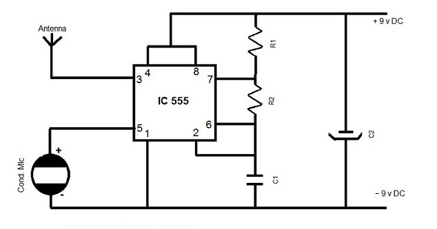 electronics hobby circuits for beginner u0026 39 s  am transmitter using 555