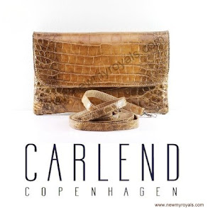 Crown Princess Mary Style CARLEND COPENHAGEN Vanessa Crocodile Bag