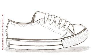 Desenho como desenhar tênis para tênis pintar e colorir
