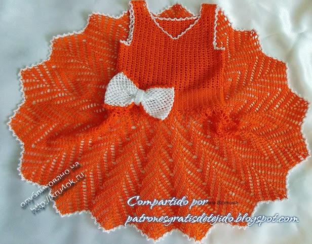 Vestido falda campana zig zag crochet