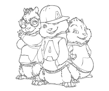 #4 Alvin and the Chipmunks Coloring Page