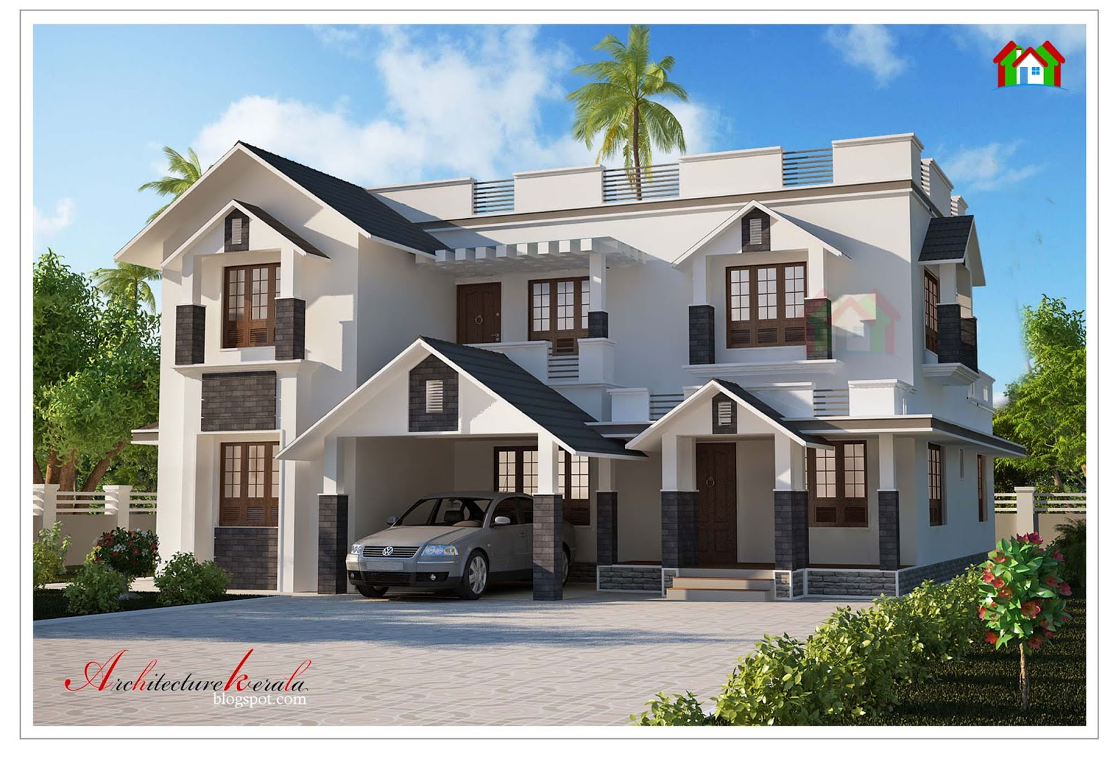 Architecture kerala modern style kerala home design for 3000 sq ft house plans kerala