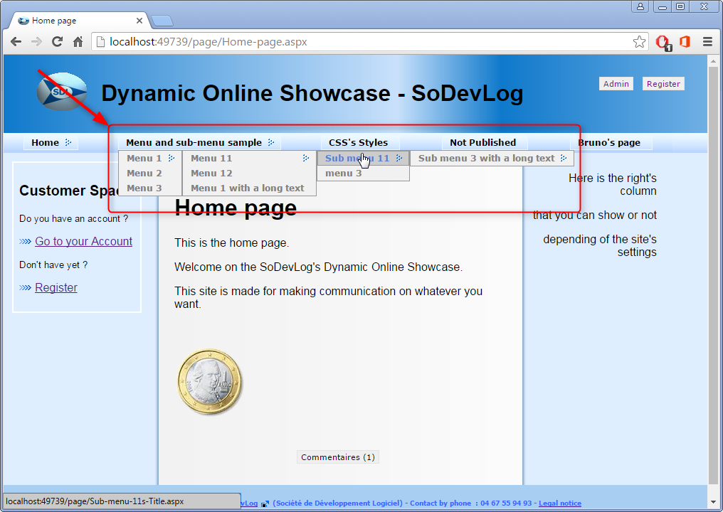 Favori Dynamic Online Showcase | SoDevLog - Société de Développement Logiciel NS86