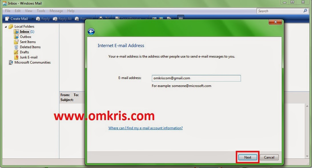 Cara Aktifkan Windows 7 Mail