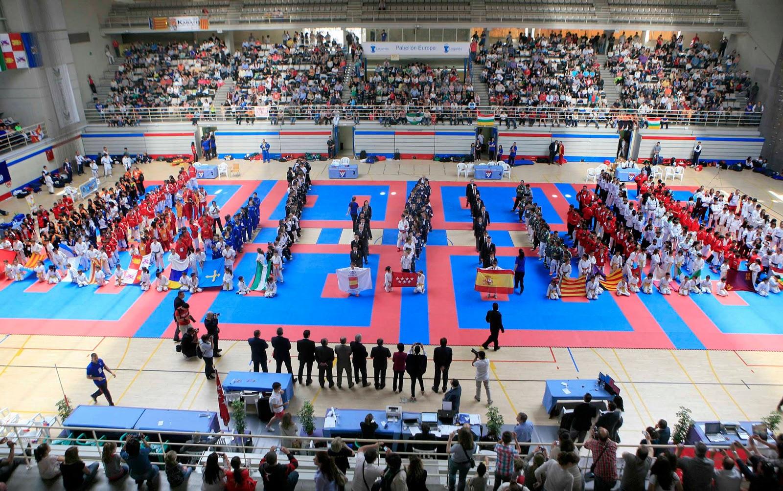 Un pabell n europa abarrotado alberg el xxxv campeonato - Pabellon de deportes de madrid ...