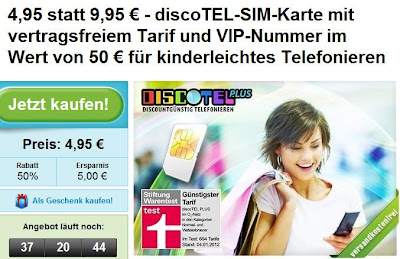 Günstige Nischen-SIM bei Groupon für 4,95 Euro: 7,5 Cent in alles Netz und für SMS ohne Vertragsbindung