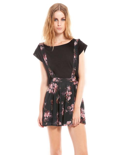 çiçek desenli askılı mini elbise