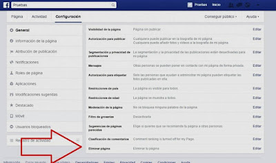 """""""Cómo eliminar una página en Facebook2"""""""