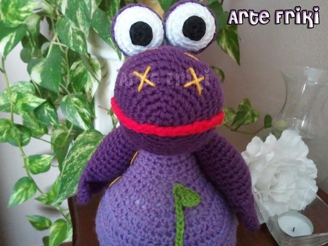 dibo el dragón de los deseos amigurumi crochet ganchillo peluche muñeco