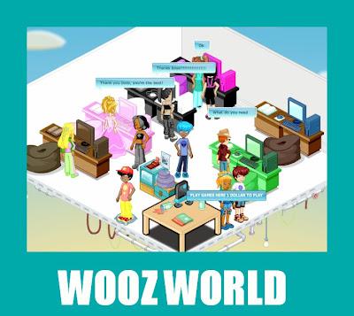 wooz world jogo social parecido com habbo hotel