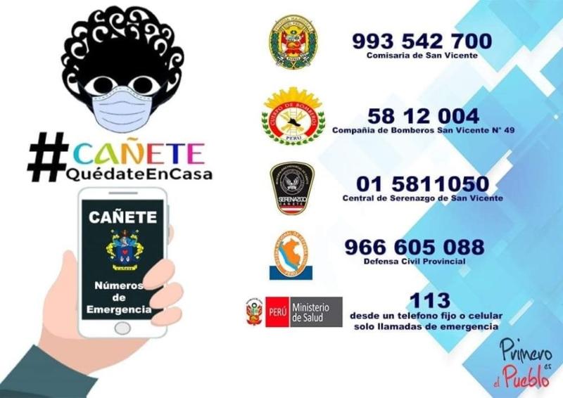 ANOTA | NÚMEROS DE EMERGENCIA EN CAÑETE.