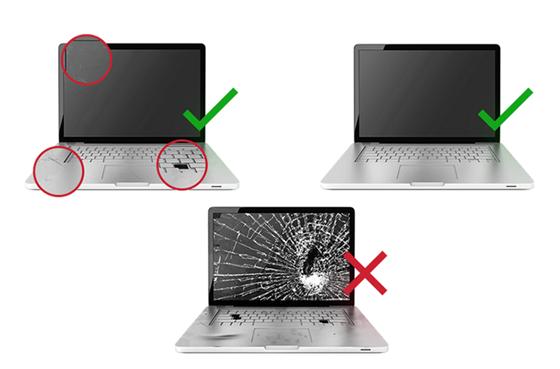São aceitos para troca computadores com pequenas avarias de uso