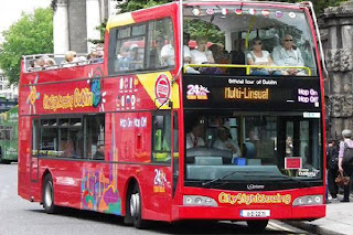 view of-dublin city-sightseeing-bustour