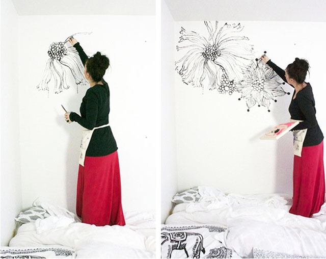 Hand Painting Designs On Walls : alisaburke: hand painted statement wall