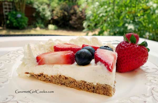 Slice of Almond Flour Berry Tart