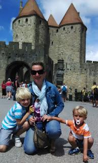 carcassone, ciudad medieval, amurallada, viajes con niños