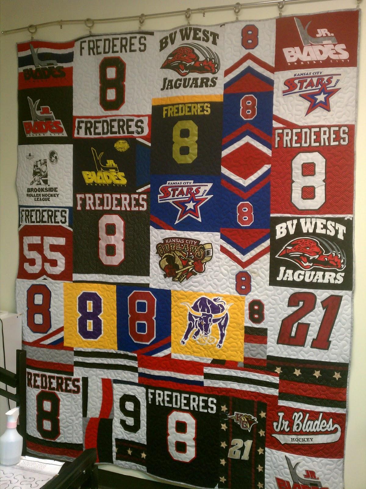 Back Porch Quiltworks: Hockey jersey quilt : jersey quilt - Adamdwight.com