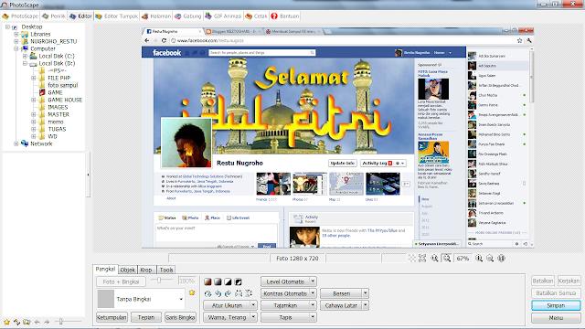Membuat Foto Sampul FB Menyatu dengan Foto Profil VERSI RIEZTOSHARE