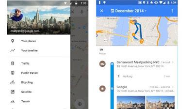 Google Maps - Histórico de rotas e locais visitados