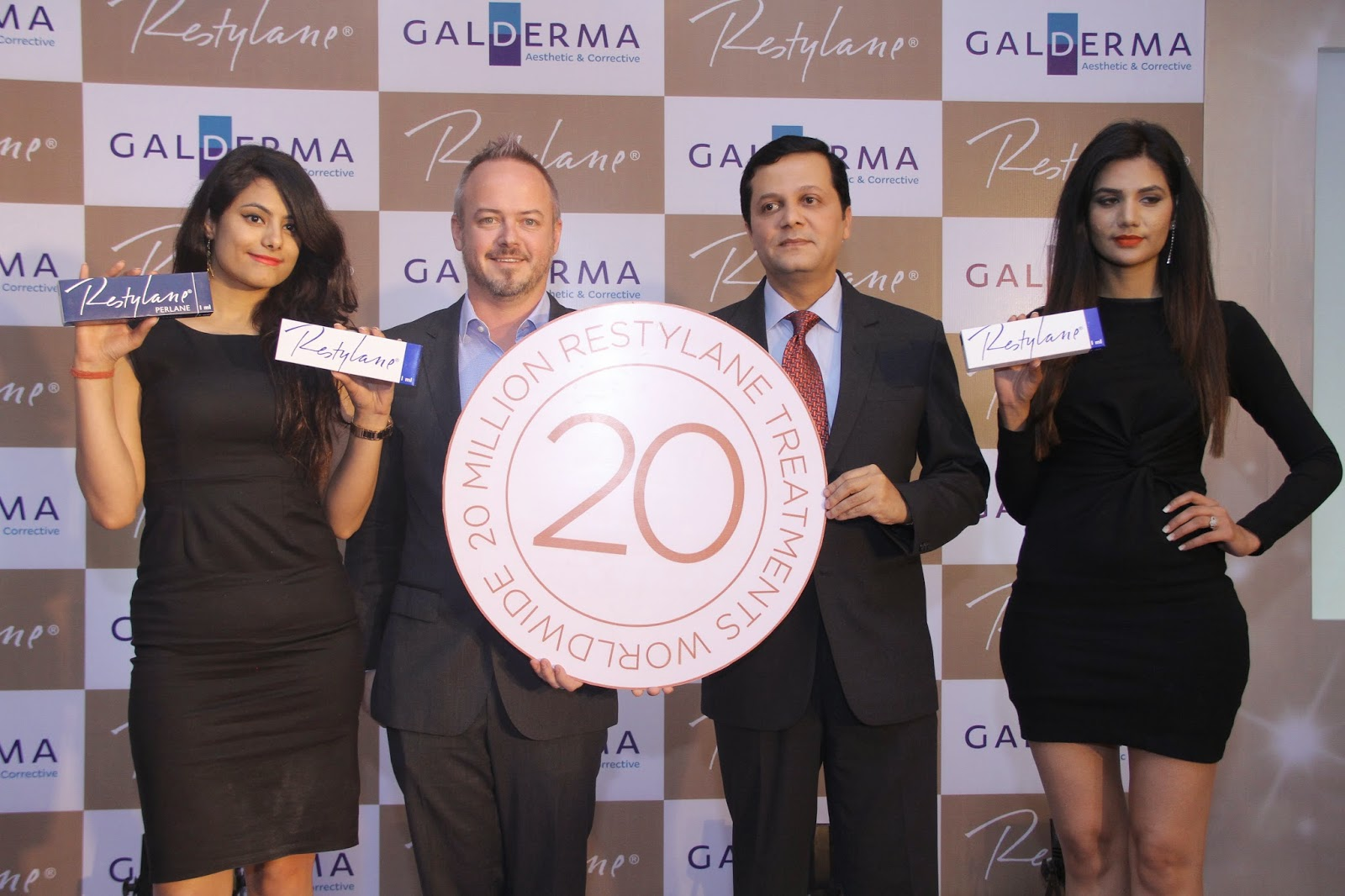 Mr Scott McLennan,Head of Regional centre of Excellence, Asia Pacific, Galderma And Mr H K Madhusudhan, Head of Galderma India's Aesthetic & Corrective business during the  launch of Galderma Aesthetic Academy in New Delhi on wednesday.