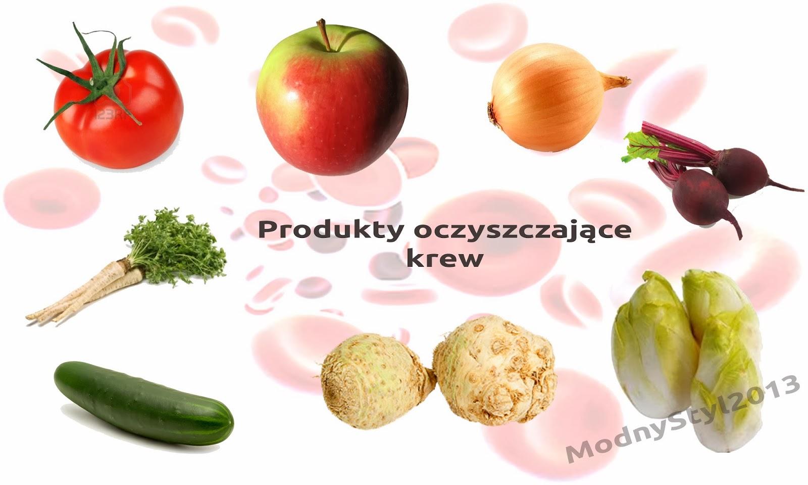 Warzywa i owoce oczyszczające krew!