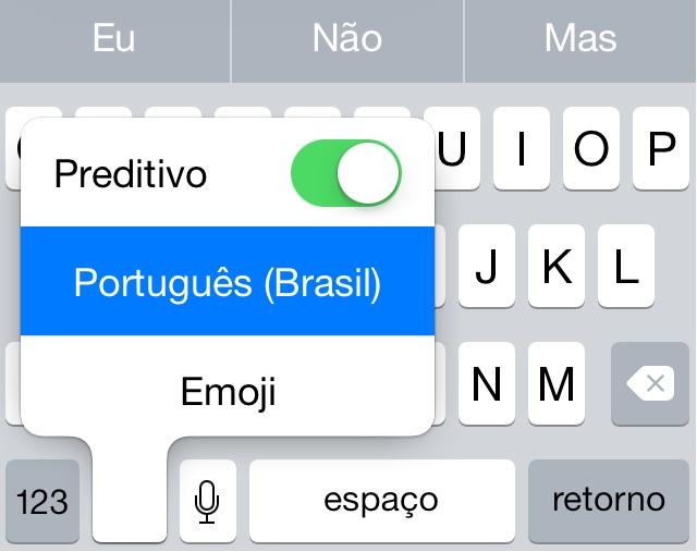 Teclado Preditivo do iOS 8
