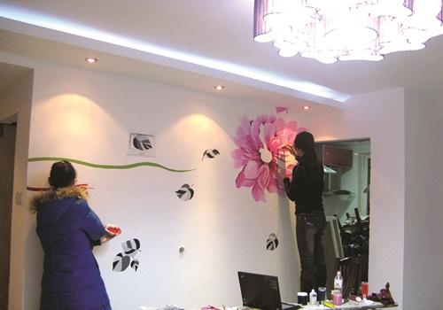 Tranh vẽ trên tường cho nhà hấp dẫn