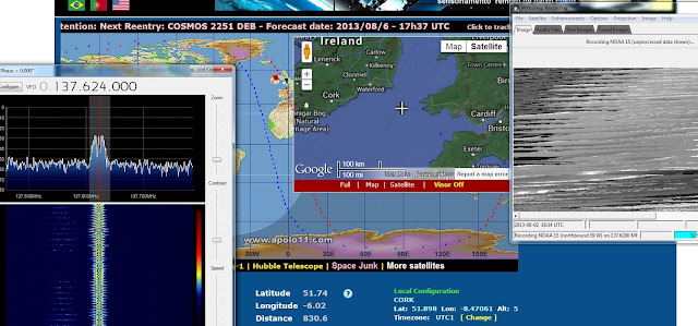 RTL-SDR, SDRSharp, WXtoImg, Turnstile, Software Defined radio, weather satellite image