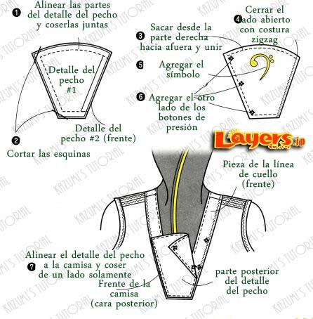 Cómo coser y agregar un Cuello Marinero | KaZuMi Kawaii