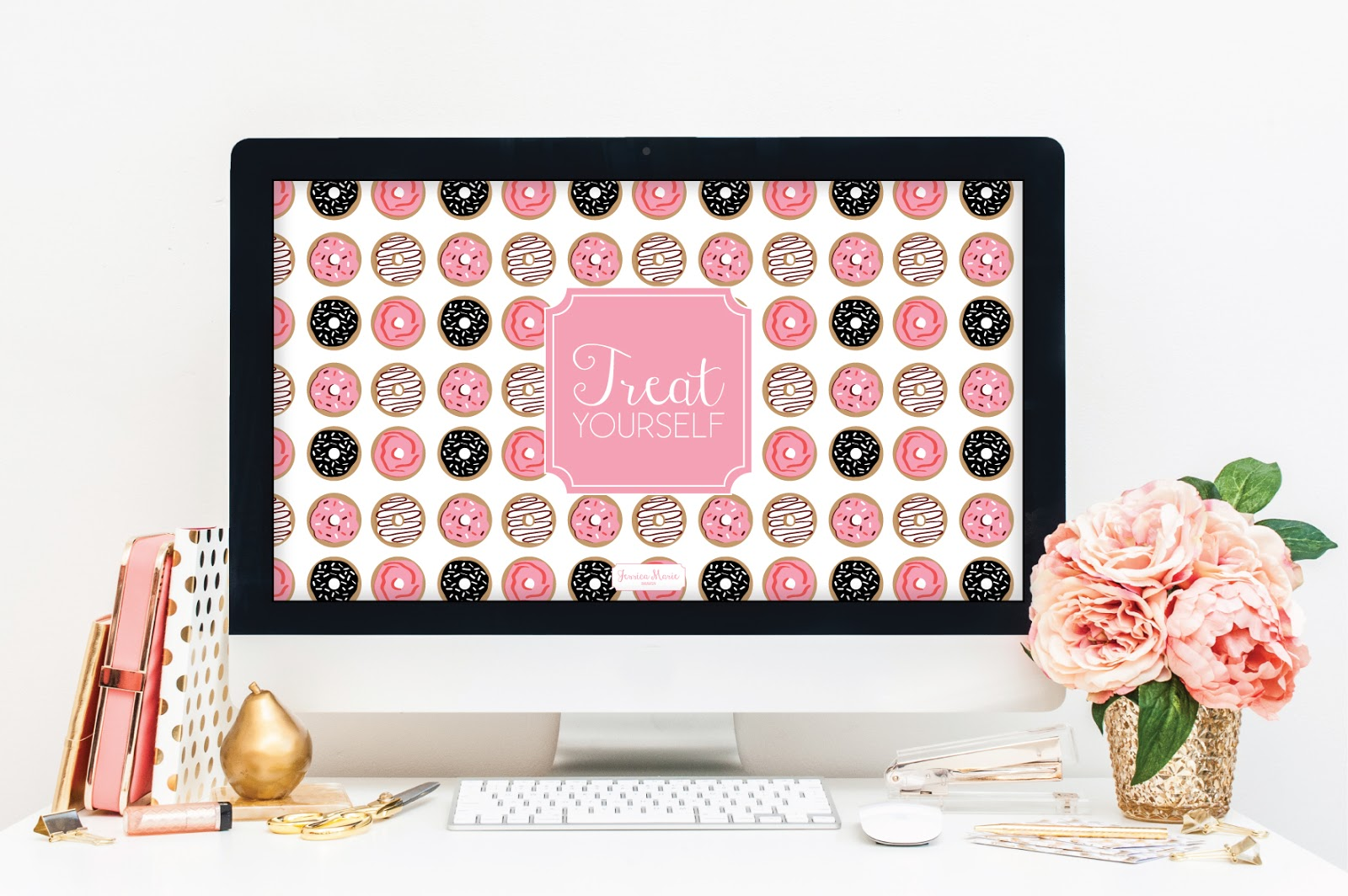 Treat Yourself Wallpaper by Jessica Marie Design