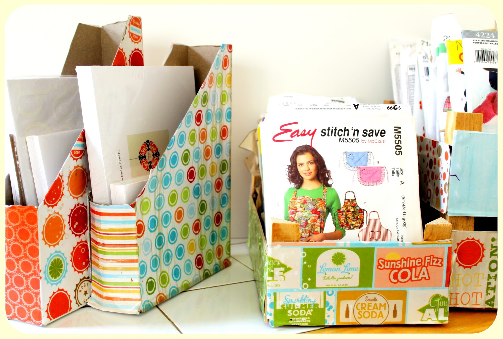 Repurposed cereal and clementine boxes thoroughly modern for Modern housewife