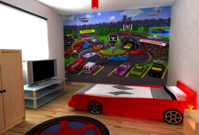 contoh gambar dekorasi kamar tidur anak desain denah