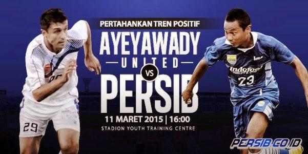 Ayeyawady United vs Persib Bandung 1-1
