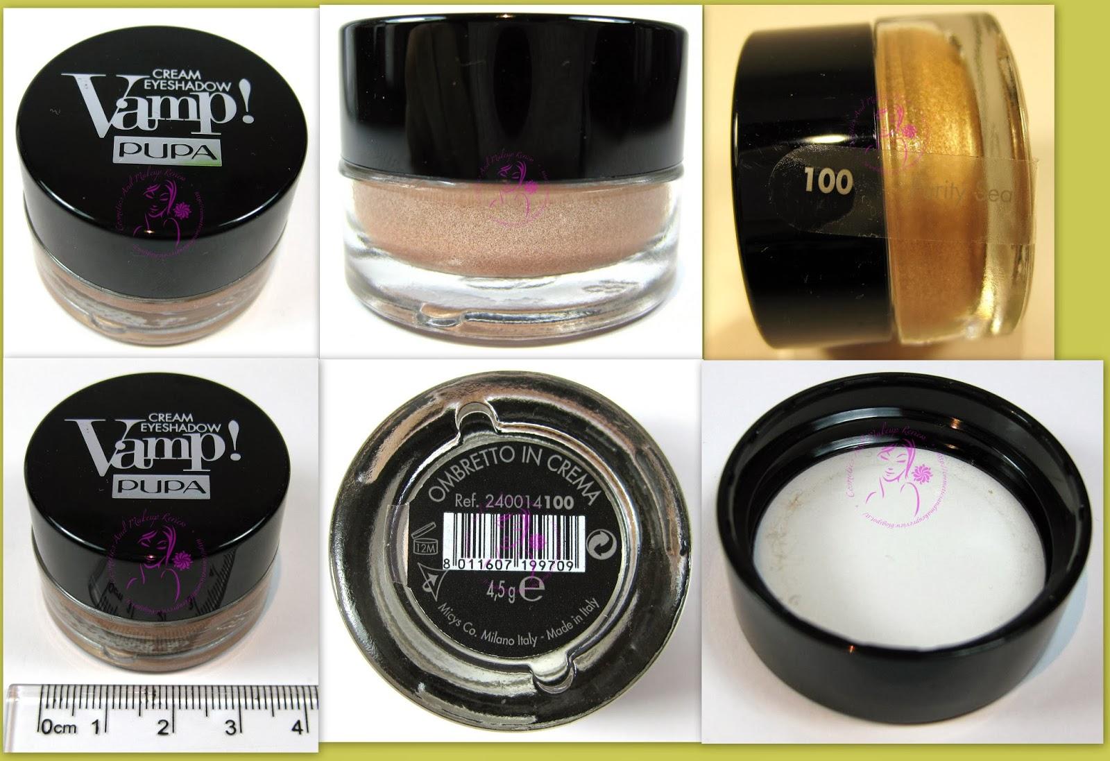 Pupa - Vamp! Cream Eyeshadow n° 100 - Champagne - packaging
