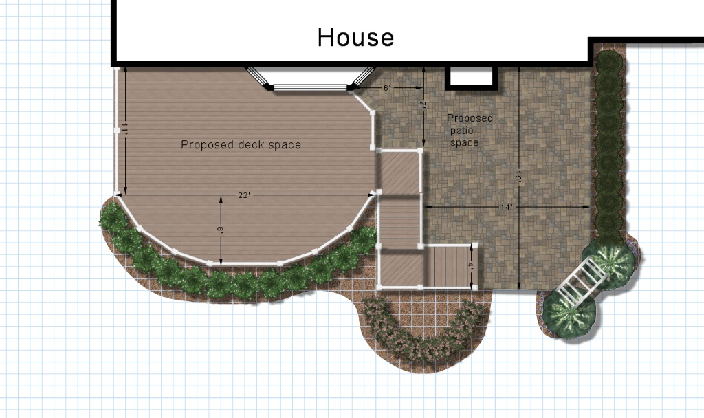Here Is Another Design Feature We Like Doing Is Combining A Deck Space And  A Patio. Not Only Does It Give You Two Unique Outdoor Spaces It Gets You  Flowing ...