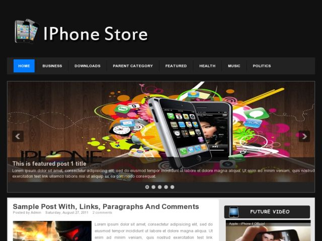 iPhone Store Blogger Template
