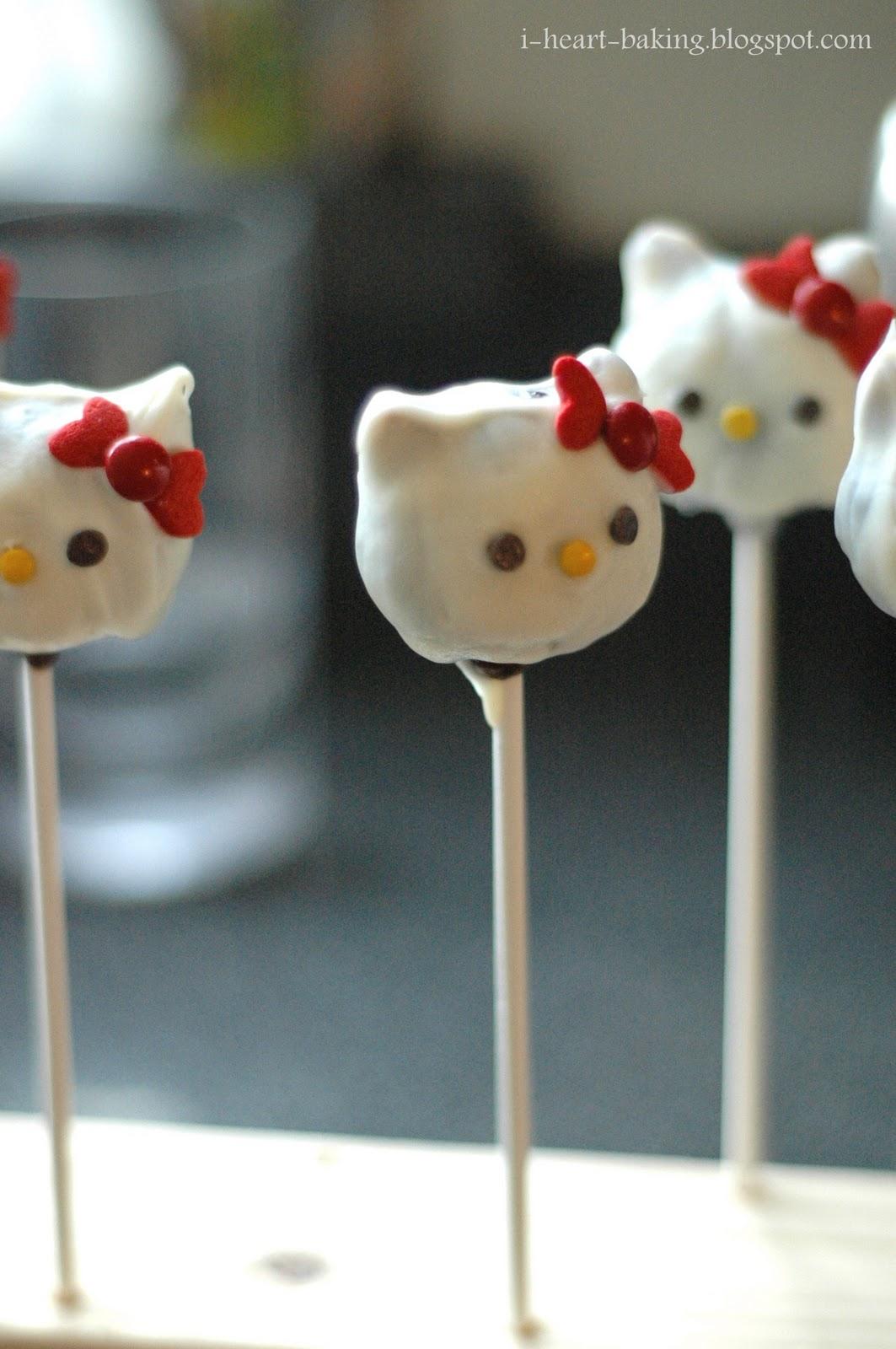 i heart baking!: hello kitty cake pops