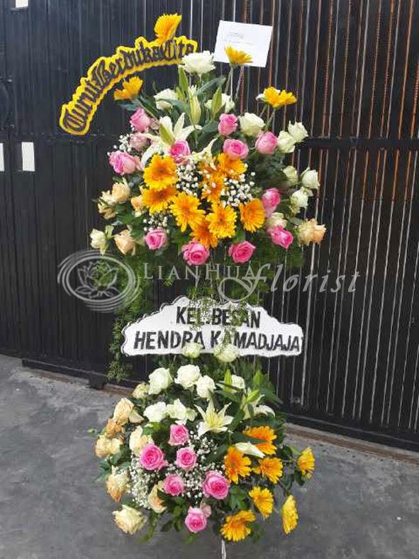 Standing Flowers, rangkaian bunga duka cita, buket bunga duka cita, toko karangan bunga, toko bunga tangerang,