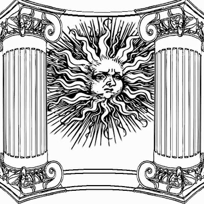 sun-god new age sun temple art background adults old kids printable pictures to color and print out