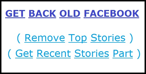 How to get back facebook news feed
