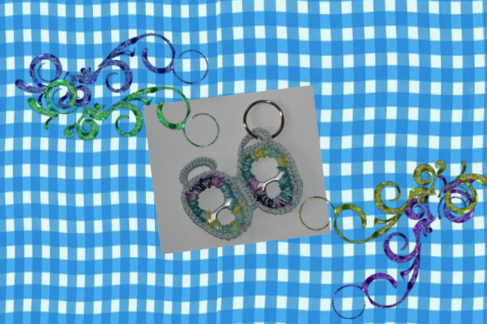 pull tab crochet pattern butterfly key ring